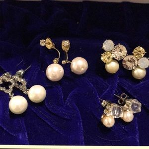 Imitation pearls pieces sets of 4